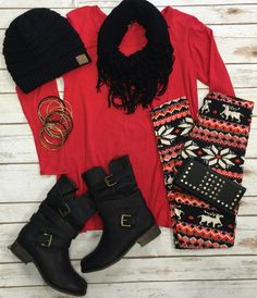 Super soft leggings so comfy you'll never want to take them off! Add a little spice to your outfit with a fun printed legging. These are a HIGH quality leggings Cozy Winter Outfits, Fall Outfits, Cute Outfits, Fashion Outfits, Disney Outfits, Winter Clothes, Printed Leggings Outfit, Legging Outfits, Christmas Fashion