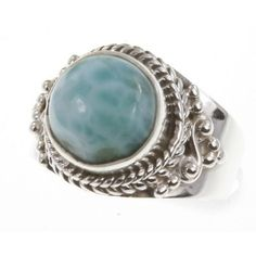 925 Sterling Silver LARIMAR Ring, Size 5.25, 5.09g: Jewelry: Amazon.com