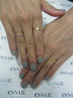 Grey nail for fall