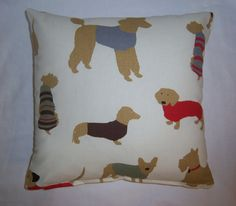 "Small Dogs with Coats-Pillow Cover - 14"" x 14"""