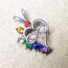 Bejeweled Infinity Heart - Polyamory Jewelry polycharms.com