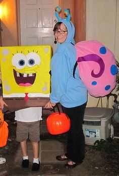 Homemade Spongebob and Gary costumes by ThisLivingDocument, via Flickr