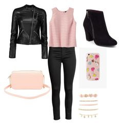 """""""Casual School Day #16"""" by seragart on Polyvore featuring Banana Republic, Charlotte Russe and The Casery"""
