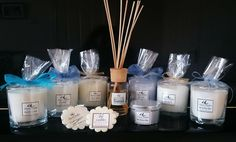 Beautiful Hand Made Soy Candles. Soy Candles offer a wide range of Scents. Pure Essential Oils, Essential Blends as well as Premium Quality Fragrance Oils are