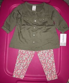 Carters-Baby-Girl-BNWT-Outfit-pants-Shirt-Size-3-Months