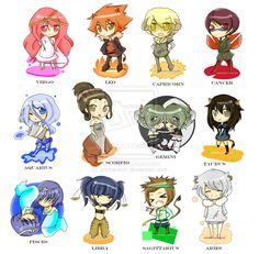 Zodiac signs by erichankun.deviantart.com on @DeviantArt