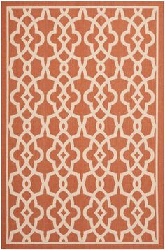 Shop the Rug - Color: Terracotta, Beige; Size: x by Safavieh. Made from Polypropylene in Belgium. This Machine Made Terracotta, Beige rug has a pile_height, perfect for a soft yet durable addition to your home. Indoor Outdoor Carpet, Outdoor Area Rugs, Outdoor Decor, Kitchen Mat, Design Consultant, Colorful Rugs, Animal Print Rug, Beige, Contemporary