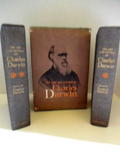 Vintage Book The Life and Letters of Charles Darwin circa. 1959 Double Volume Set
