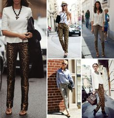 leopard print pants, street style