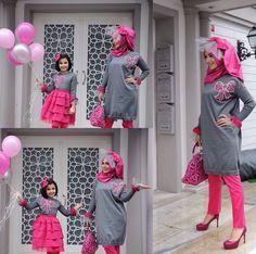 Sevgililer Gününe Özel Anne-Kız Kombini.. #noorbutiktr #triko #tunik #elbise #annekız #kombin #tasarım #design #designer #balloon #moda #fashion #instafashion #İstanbul #Çengelköy: