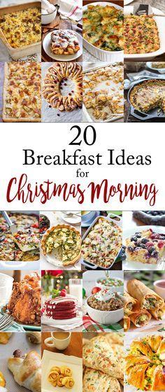 Christmas Morning Breakfast or Brunch Ideas for Christmas Morning