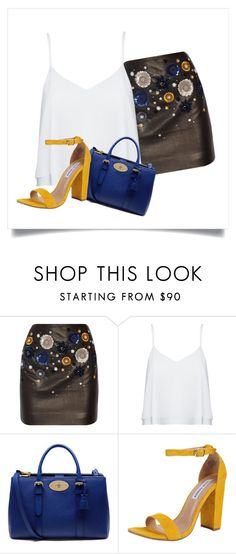 Belle by cludysskystyle on Polyvore featuring moda, Alice + Olivia, Topshop Unique, Steve Madden and Mulberry