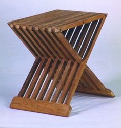 Folding X Side Table