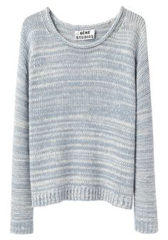 SAPATA TWIST MARLED SHORT CREW NECK PULLOVER from ACNE