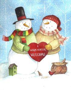 Warm Welcome Snowman MELINDA HIPSHER