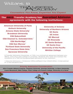 Transfer Academy Santa Barbara City College Uc Humboldt