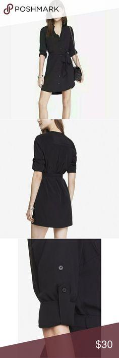 Portofino shirt dress Express portofino shirt dress. Great condition. Express Dresses