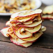 Who knew chips could be so healthy?  This apple chips recipe has one (one!) ingredient and they are oh so tasty.