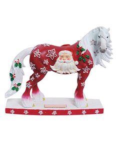 Love this Santa Claus Horse Figurine on #zulily! #zulilyfinds