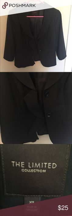 The Limited Blazer - XS Brand new - only worn once to a job interview. Ruffle on one side of the jacket The Limited Jackets & Coats Blazers