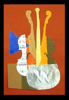Bildergebnis für collage kubistisches porträt kunstunterricht