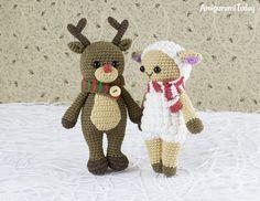 Cuddle Me Reindeer - Free crochet pattern by Amigurumi Today