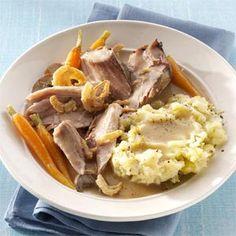 Savory Mushroom & Herb Pork Roast Recipe | Taste of Home Recipes