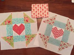 @tammywhitewv Thank You for the beautiful swap blocks and the extra fabric!! The fabric heart on the right is new to me. I really like it! 😊