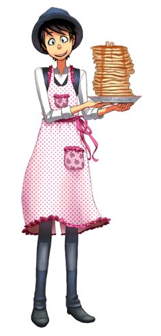 Once ler wearing a pink apron and holding a plate of pancakes The Lorax, Illumination Entertainment, Boys Food, Pink Apron, Getting Over Him, Avengers, Cute White Boys, Hey Man, Fanart