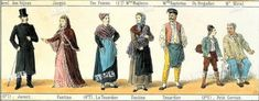 Original costume design from a production in the late This highlights workers and a couple upper class. Les Miserables Costumes, Costume Design, Highlights, Couples, Apparel Design, Luminizer, Couple, Hair Highlights, Highlight