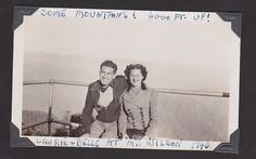 Belle and Larry, Mt Wilson, 1940