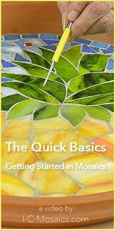 DIY TIPS - MOSAIC - These are the quick basics to make your first experience in mosaics easy & fun. They will help you make decisions about all of the great options for using your creativity.i-c-mosaics. Mosaic Tile Art, Mosaic Artwork, Mosaic Crafts, Mosaic Projects, Stained Glass Projects, Stained Glass Art, Pebble Mosaic, Easy Mosaic, Mosaic Pots