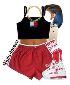 A fashion look from June 2016 featuring HUF socks and Gogo Philip necklaces. Browse and shop related looks. Swag Outfits For Girls, Cute Lazy Outfits, Cute Swag Outfits, Crop Top Outfits, Teenage Outfits, Dope Outfits, Trendy Outfits, Girl Outfits, Summer Outfits