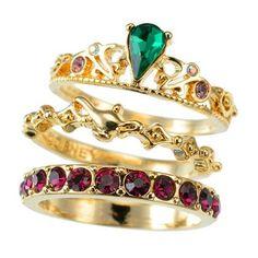 Jasmine 3 Piece Ring Set