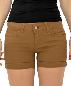 Another great find on #zulily! Camel Rolled-Hem Shorts by O&O #zulilyfinds
