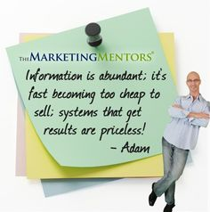 Sell systems that get RESULTS. #marketingtip
