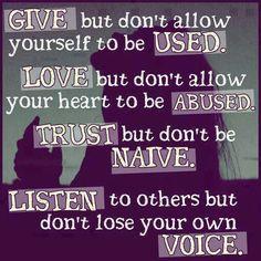 Give, Love, Trust, Listen