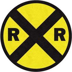 Silhouette Design Store: traffic sign - railroad crossing