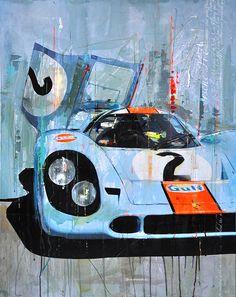 Porsche 917 :: Racing Legends :: Markus Haub - Autos -You can find Porsche and more on our website. Auto Poster, Car Posters, Sports Car Racing, Auto Racing, Drag Racing, Supercars, Car Illustration, Porsche Cars, Porsche Gt3