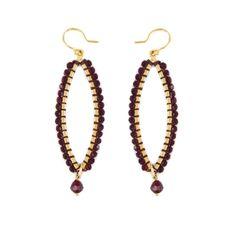 Siam Crystal Earrings