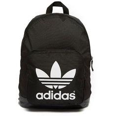 adidas Originals Sport Backpack found on Polyvore featuring bags, backpacks, black and white bag, retro bag, woven bag, zipper bag and sport backpack