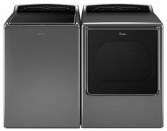 Shop for Whirlpool Cabrio Laundry Pair with cu ft top load washer and cu ft gas dryer. Get free delivery On EVERYTHING* Overstock - Your Online Home Improvement Shop! Get in rewards with Club O! Whirlpool Washer And Dryer, Gas Dryer, Laundry Appliances, Steam Cleaning, Smart Home, Electric Dryer, Top, Chrome, Cleaning