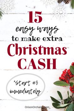 Tired of Christmas debt? These easy side hustles will help you earn some extra cash for Christmas. This year, give yourself the gift of a debt-free Christmas and financial peace! Frugal Family, Family Budget, Frugal Living Tips, Frugal Tips, Money Saving Challenge, Money Saving Tips, Money Tips, Money Hacks, Ways To Save Money