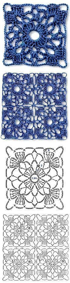 Transcendent Crochet a Solid Granny Square Ideas. Inconceivable Crochet a Solid Granny Square Ideas. Crochet Motifs, Crochet Blocks, Crochet Diagram, Crochet Stitches Patterns, Crochet Chart, Crochet Squares, Love Crochet, Crochet Designs, Crochet Doilies
