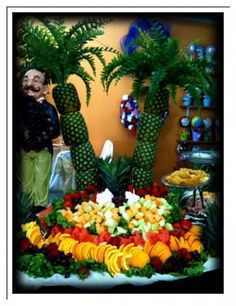 Beautiful fruit display for pool parties/beach weddings etc.