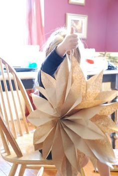 Flowers from paper sacks - easy one to start with, but big impact-