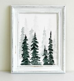 Watercolor Pine Trees Tutorial: How to Pain a Wintery Forestscape – The Art 123 #watercolorarts
