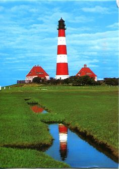 Westerhever Lighthouse, Schleswig-Holstein, Germany