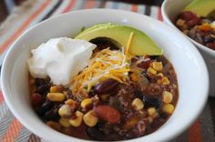 Slow Cooker Black Bean & Quinoa Chili (V, GF) | Busy Girl Healthy World
