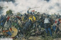 Battle of Stamford Bridge by Brian Palmer. King Harold defeats the Viking invaders at Stamford Bridge before his long march south to face William the Conqueror at the Battle of Hastings.